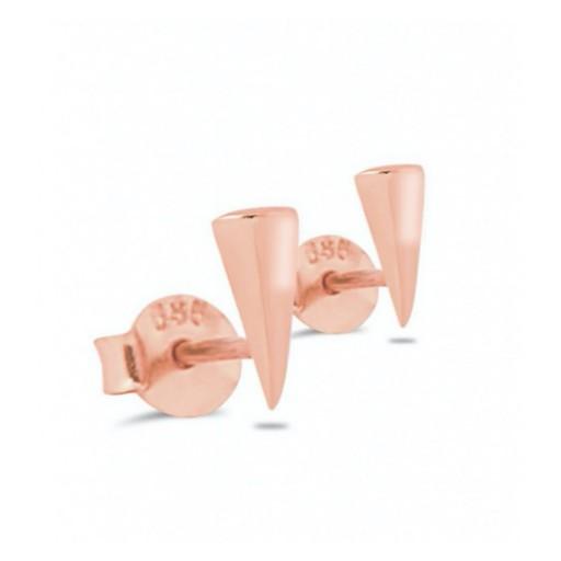 Üçgen Küpe Modeli 14 Ayar Rose Altın