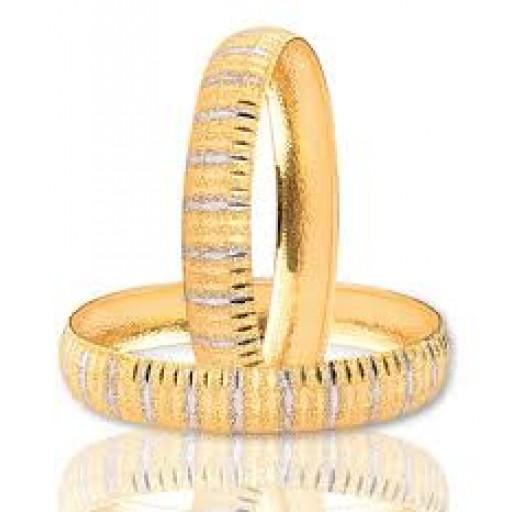 22 Ayar Altın Bilezik 15-17 Gram Işıltı Modeli