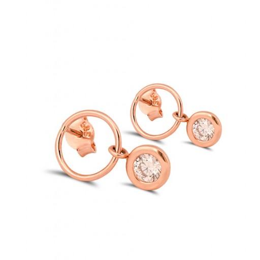 14 Ayar Rose Altın Çember Küpe Modeli