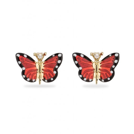 Roberto Bravo Kral Kelebek Küpe Modeli