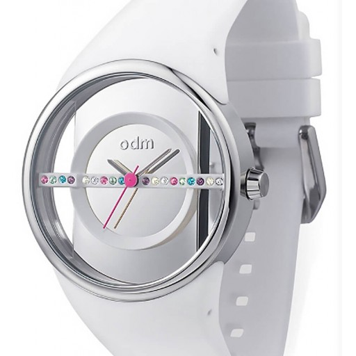 O.D.M Desıgn  Beyaz Slıkon Bayan Saati