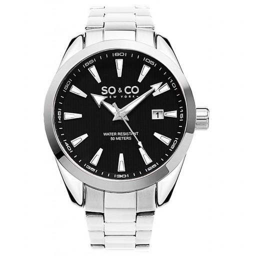So&Co Newyork  5039b-1 Paslanmaz Çelik Kordon Erkek Saati