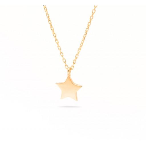 Altın Rose Minimalist Yıldız Kolye 14 Ayar
