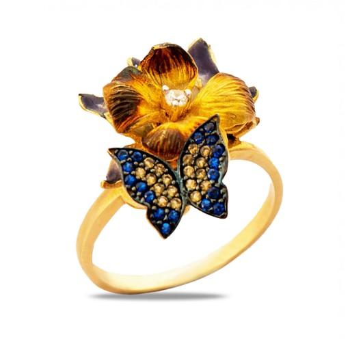 14 Ayar 5,10 Gr  Sarı Altın Art Flower Yüzük