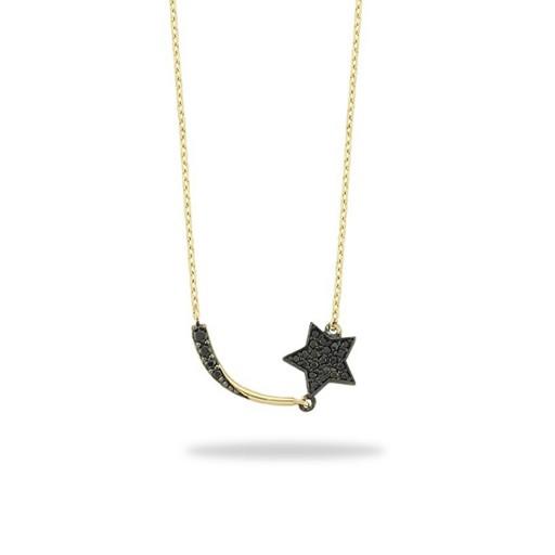Yıldız Kolye -14 Ayar Kuyruklu Yıldız Kolye